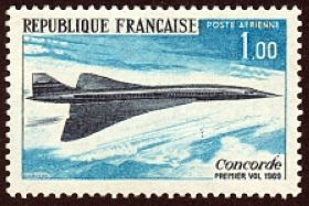 Premier vol de l'avion supersonique «concorde»