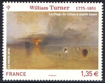 «La plage de Calais» ( tableau de William Turner 1775-1851)