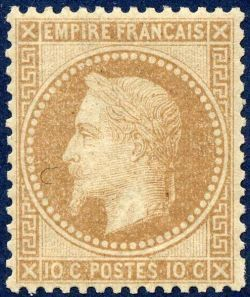 Napoléon III 10 c - Empire lauré