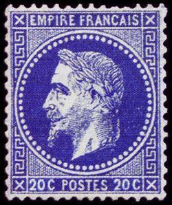 Napoléon III 20 c - Empire lauré