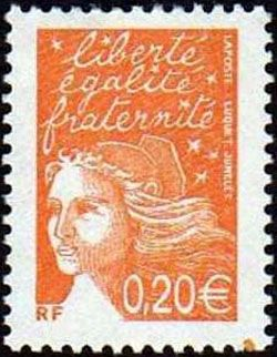 Marianne de Luquet 0,20 € orange