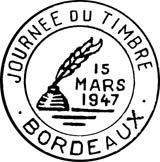 Oblitération 1er jour le 15 mars 1947