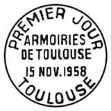 Oblitération 1er jour à Toulouse le 15 novembre 1958