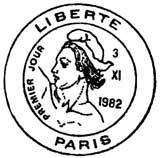 Oblitération 1er jour à Paris le 4 janvier 1982