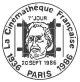 Oblitération 1er jour à Paris le 20 septembre 1986