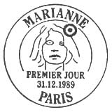 Oblitération 1er jour à Paris le 31 janvier 1989
