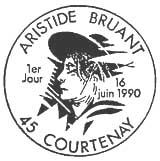 Oblitération 1er jour à Courtenay le 16 juin 1990