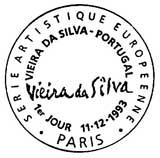 Oblitération 1er jour à Paris le 11 décembre 1993