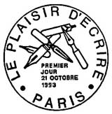 Oblitération 1er jour à Paris le 21 octobre 1993