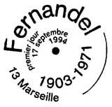 Oblitération 1er jour à Marseille le 17 septembre 1994
