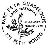 Oblitération 1er jour à Petit Bourg le 12 avril 1997