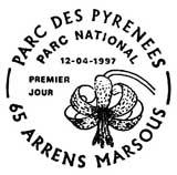 Oblitération 1er jour à Arrens Marsous le 12 avril 1997