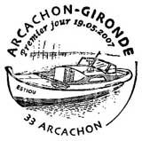 Oblitération 1er jour à Arcachon le 19 mai 2007