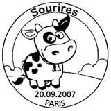 Oblitération 1er jour à Paris le 20 septembre 2007