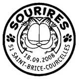 Oblitération 1er jour à Saint Brice-Courcelles (51370) le jeudi 18 septembre 2008 et à Paris