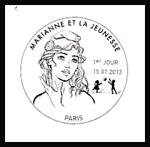 Oblitération 1er jour à Paris au Carré d'Encre le 15 juillet 2013