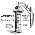 Oblitération 1er jour à Paris au Carré d'Encre et à Lyon le 13 et 14 octobre 2017