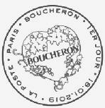 Oblitération 1er jour à Paris au carré d'Encre le 18 et 19 janvier 2019
